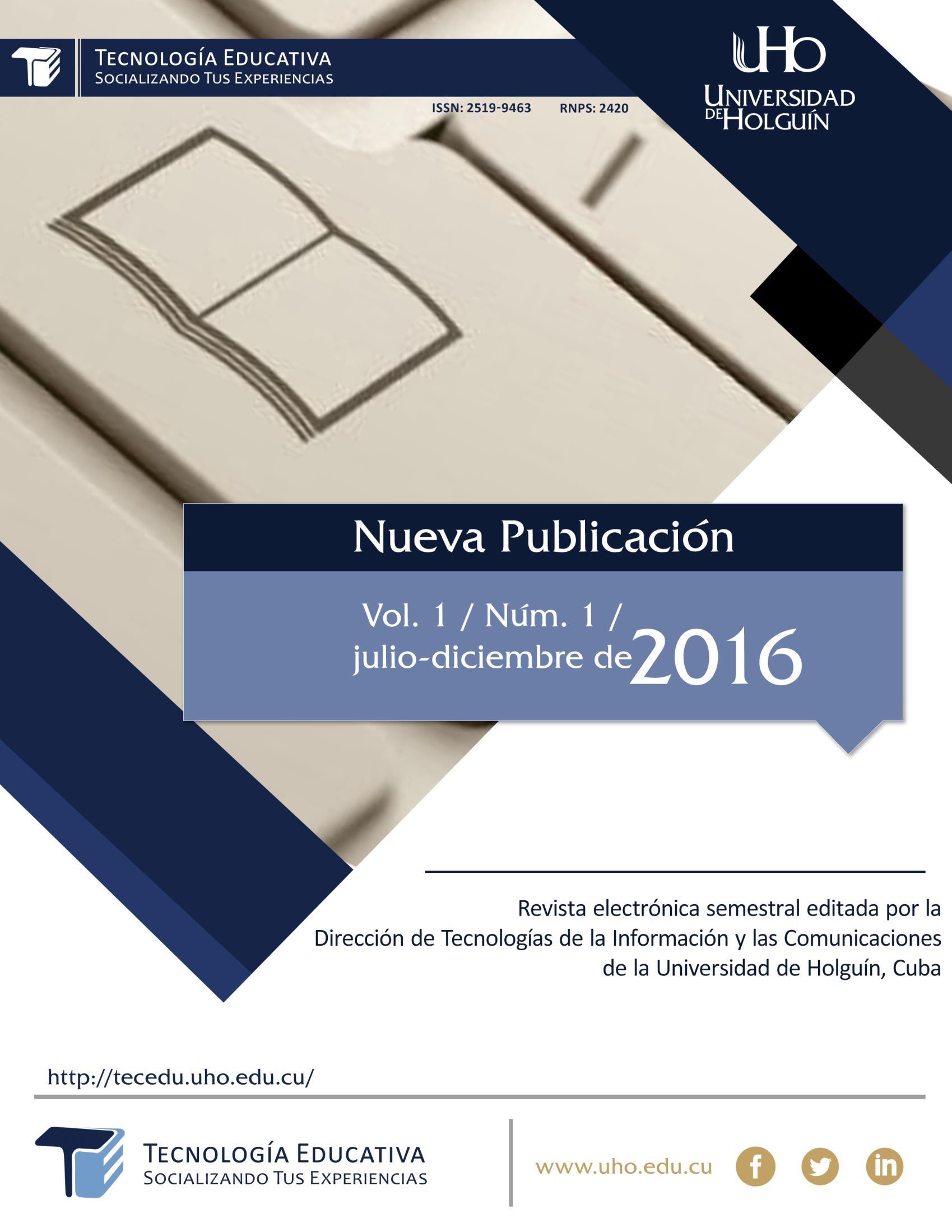 Ver Vol. 1 Núm. 1 (2016)